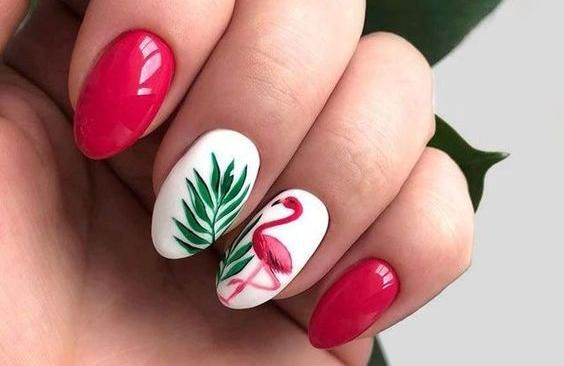 53 Tropical Flamingo Nail Art Ideas