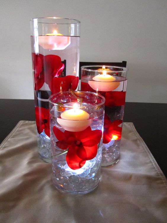 50+ Romantic DIY Floating Candles Crafts Ideas