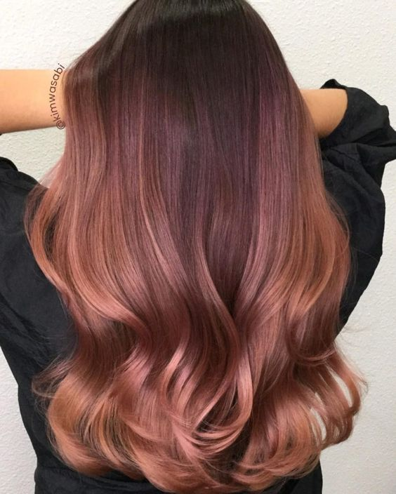 40+ Charming Rose Gold Hair Color Ideas