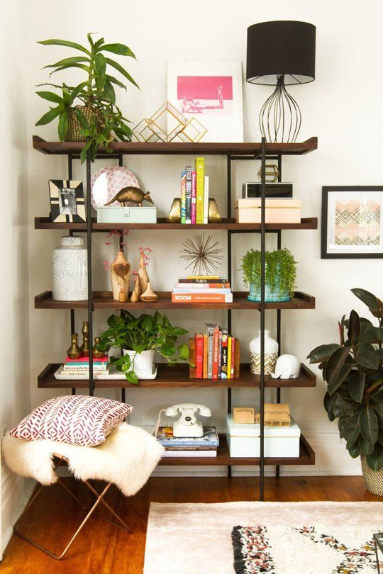 60+ Simple But Smart Shelves Decorations for Living Room Storage Ideas